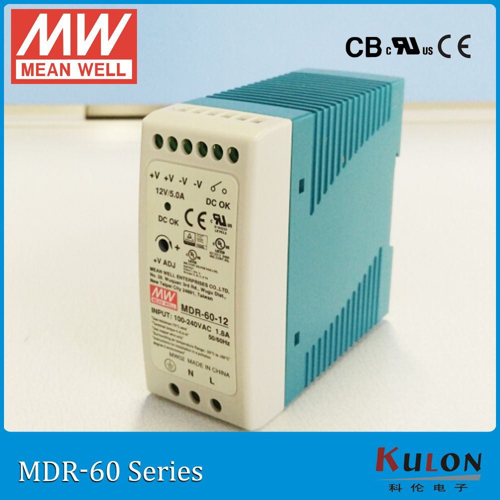 Original Meanwell MDR-60-12 60W 12V 0-5A DIN Rail Mounted Industrial mean well Power Supply MDR-60 12VDC