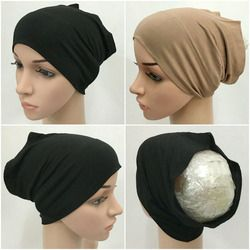 Fashion Modal Cotton Cotton Muslim Inner Hijab Tube Caps Islamic Underscarf Hats  11 colors are available