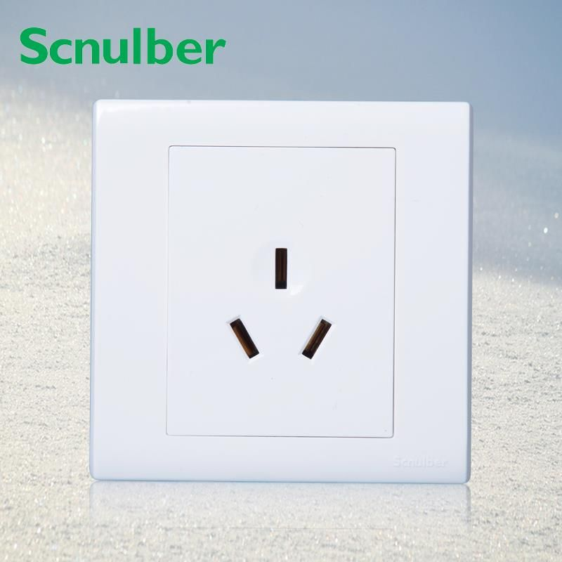 86*86mm air conditioner 250v power wall panel 3 poles 16A socket outlet