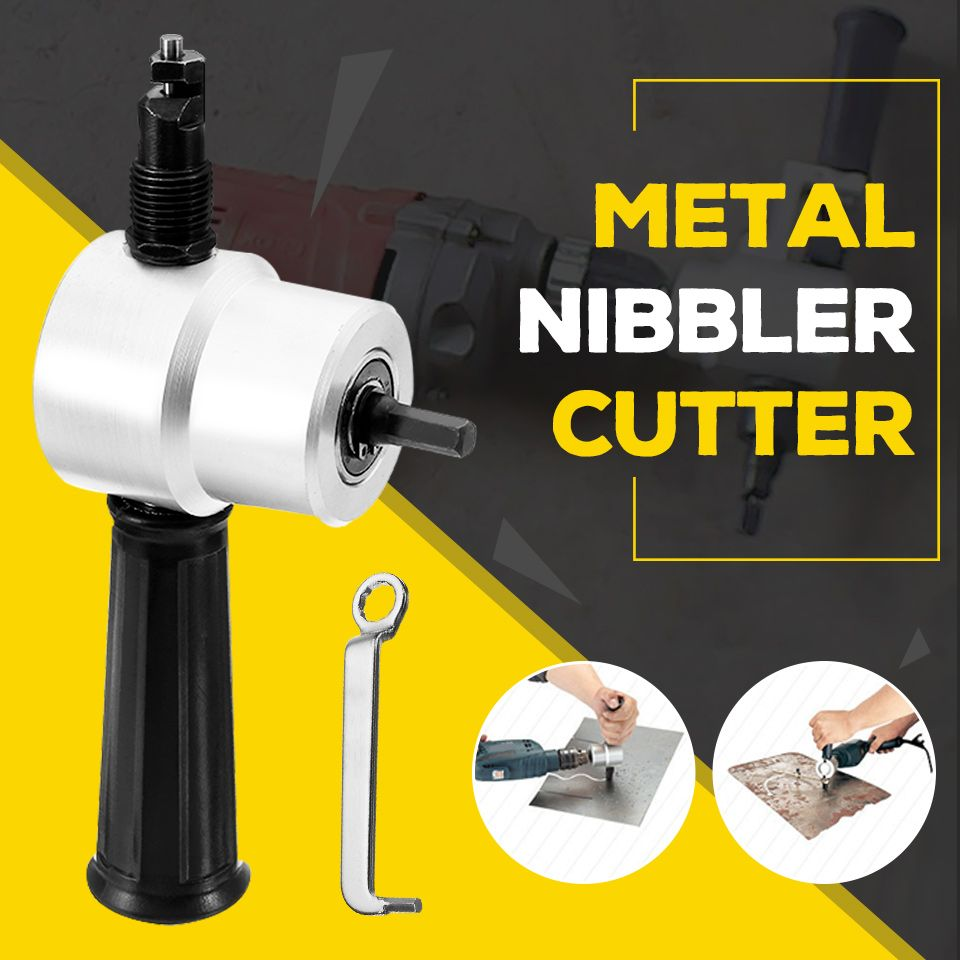 Sheet Metal Nibbler Cutter Double Head Sheet Nibbler Metal Cutter Tool Drill Attachment Free Cutting Tool Newest Metal Cutting