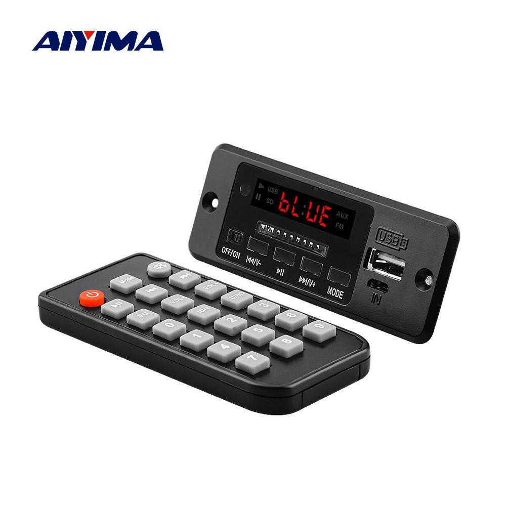 Carte de décodeur Audio MP3 Bluetooth AIYIMA 5V avec amplificateur 3W * 2 lecteur MP3 AUX FM appel mains libres