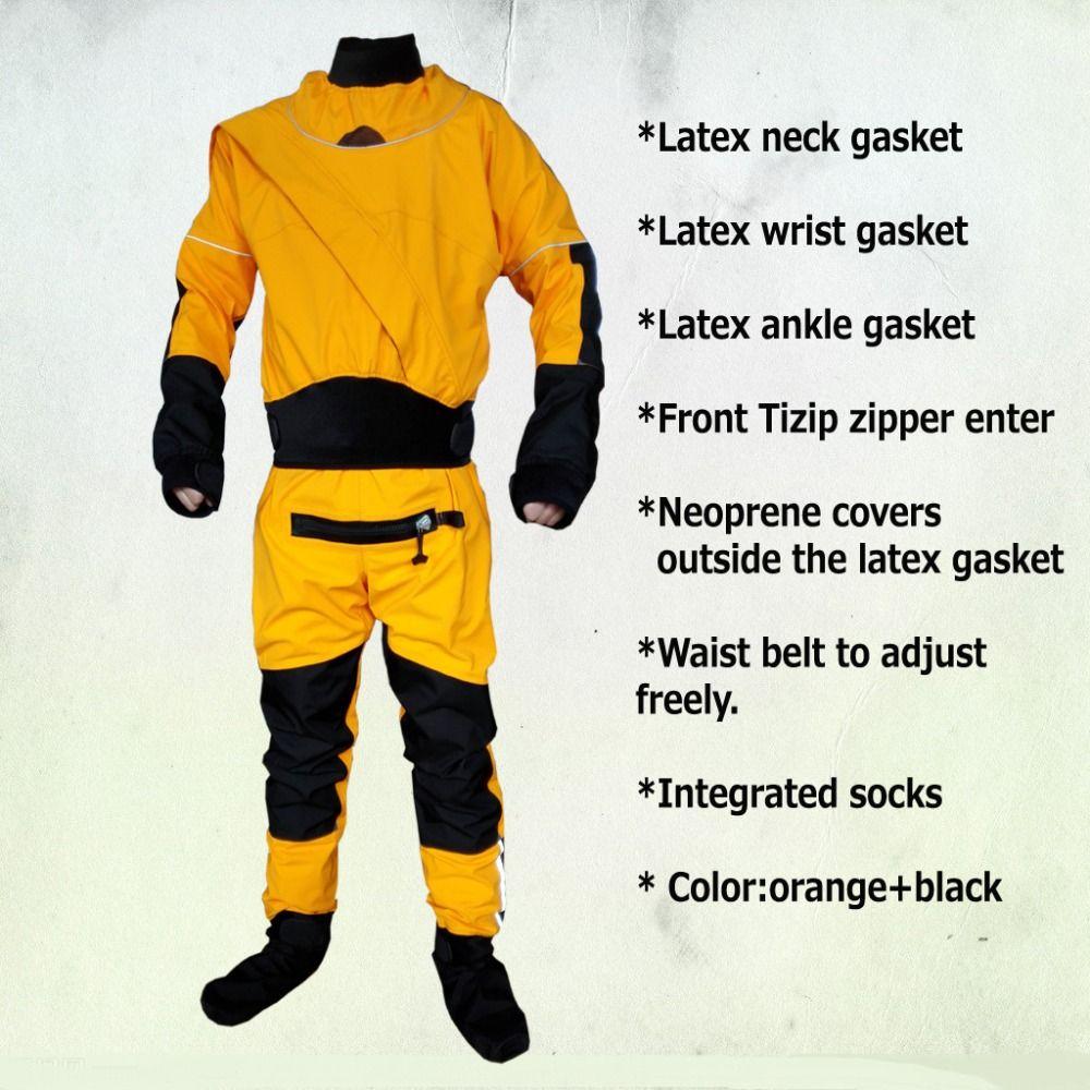 2017 UNISEX dry suit latex neck/wrist,attached socks for whitewater,kayak,rafting,kateboarding,canoeing,fishing waterproof socks