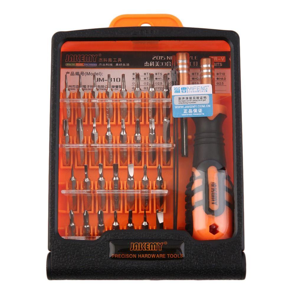 JAKEMY JM-8101 33 in1 ensemble de tournevis de précision multifonctionnel Mini ensemble de Kit d'outils de réparation d'embouts de tournevis électroniques