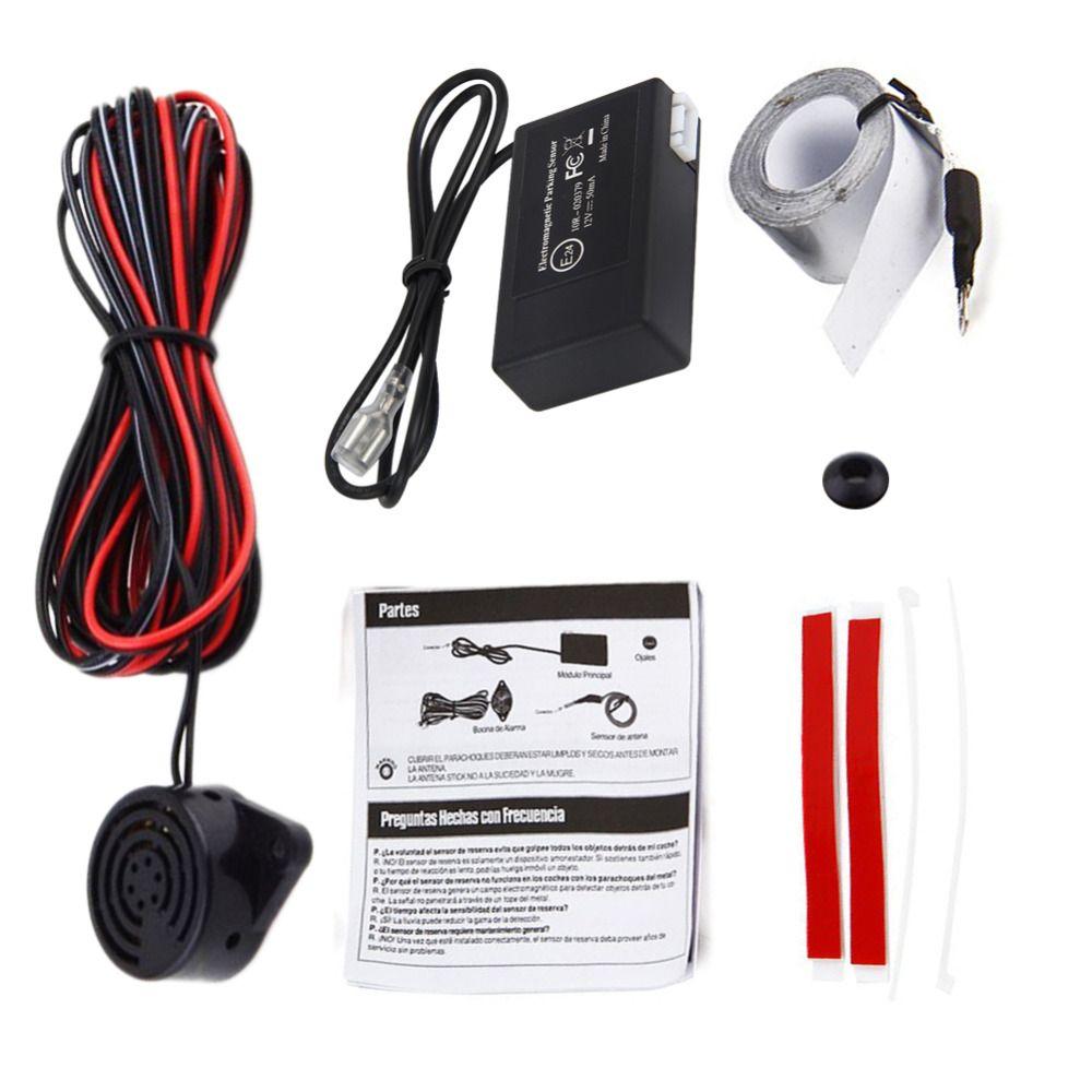 Electromagnetic Auto Car Parking Sensor Reversing Reverse Backup Radar With Buzzer Alarm No Drill No Hole Black Car Detector