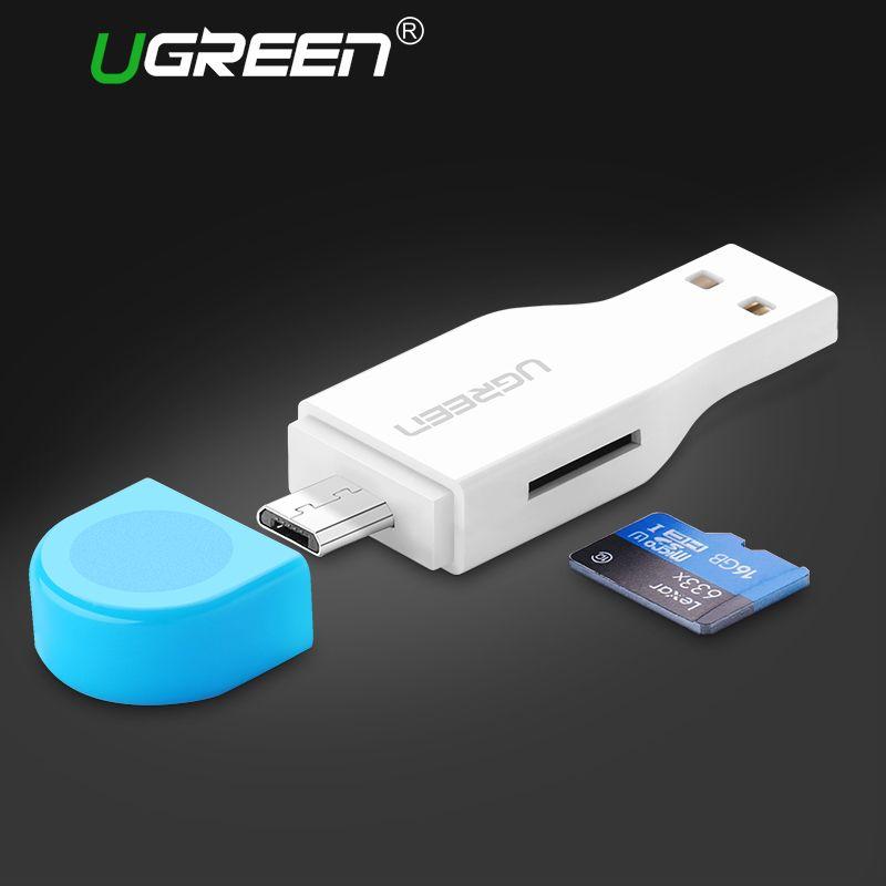 Ugreen Micro SD Lecteur de Carte Mini USB 2.0 OTG Carte À Puce lecteur pour Ordinateur Portable Téléphone Tablet TF Lecteur de Carte Mémoire Micro SD adaptateur