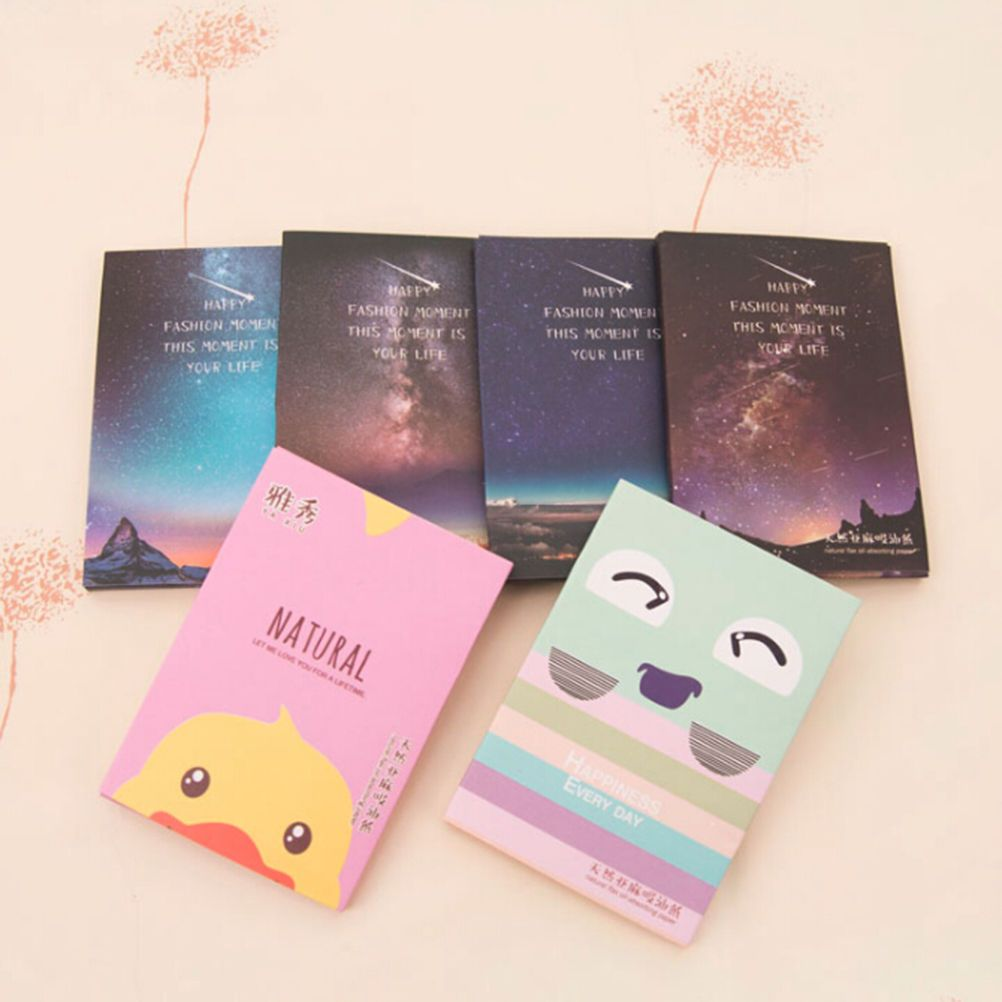 Make Up Facial Face Clean Oil Absorbing Blotting Papers Beauty Tools Pattern Random New Arrival 50Sheets/Pack