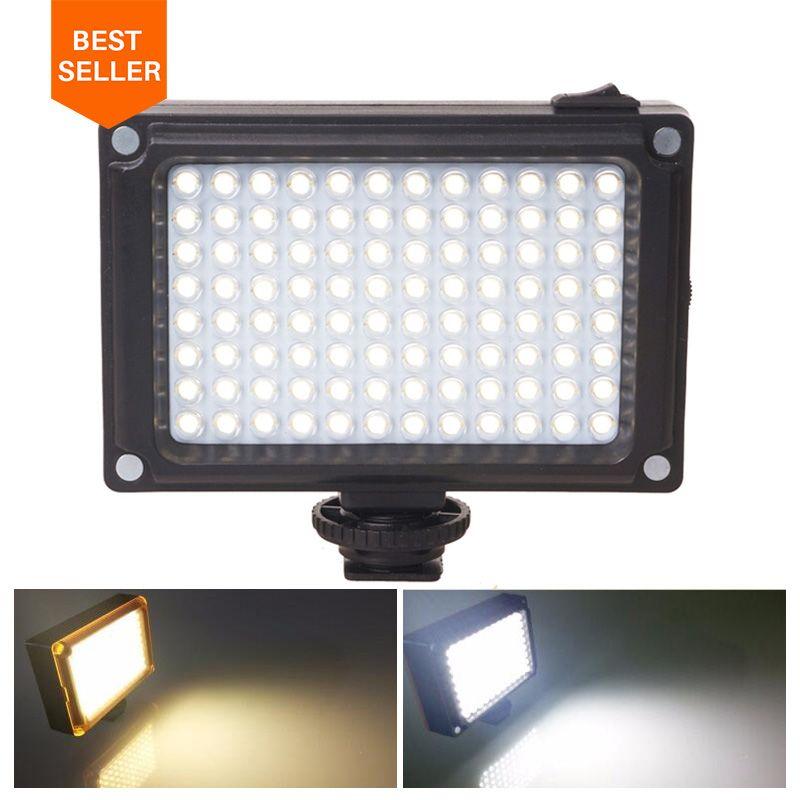 Ulanzi 96 LED Téléphone Vidéo Photo Light Éclairage sur Caméra Hot Shoe LED Lampe pour iPhone Xs Max X 8 caméscope Canon Nikon DSLR