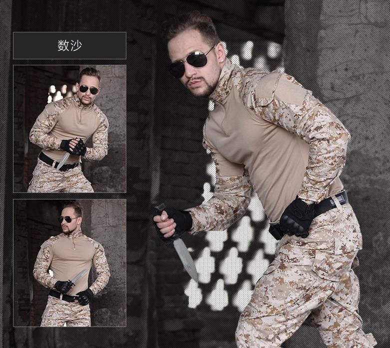 Männer Python Airsoft Armee Militär Uniform Taktische Navy Seal Kampf Frosch Anzug Hemd oder Hosen mit Knie Pads Multicam