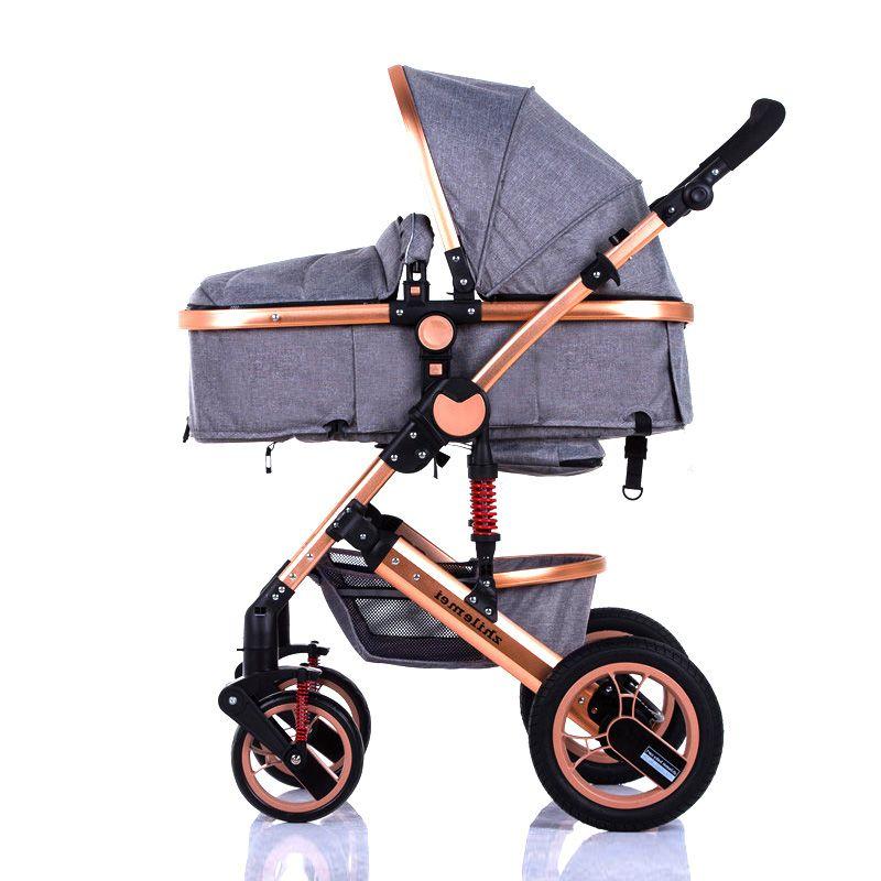 Zhilemei oley stroller landschaft kann sitzen oder liegen schock winter kinder kinderwagen kostenlose lieferung nach Russland
