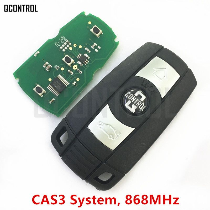QCONTROL Car Remote Smart Key 868MHz for BMW 1/3/5/7 Series CAS3 X5 X6 Z4 Car Control Transmitter with Chip