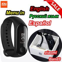Xiaomi mi Band 3/mi band 2 смарт-Браслет фитнес-браслет mi Band большой сенсорный экран OLED сообщение время сердечного ритма Smartband