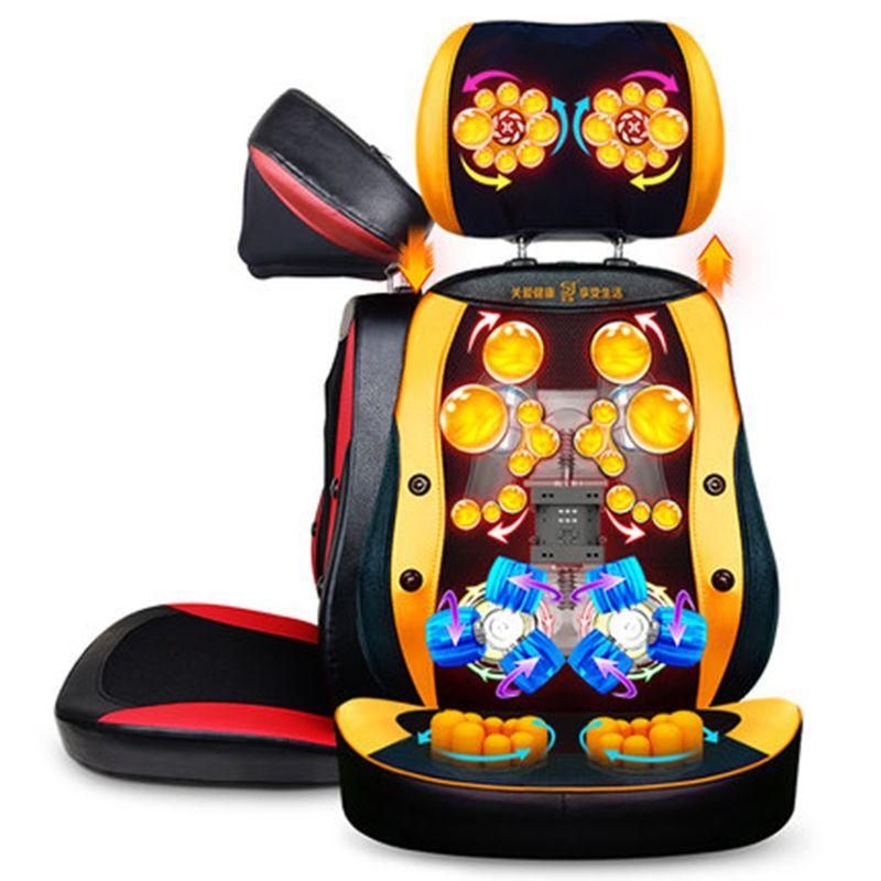 220V Hot Product Update Anti-stress electric Roller Vibration Shiatsu neck back body massage cushion chair device