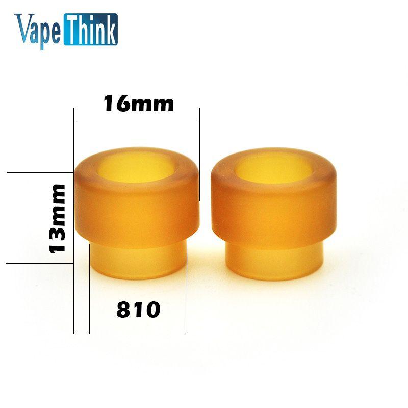2 teile/los Vapethink PEI tropfspitze 810 hitzebeständige mundstück driptip für smok tank zerstäuber elektronische zigarette zubehör