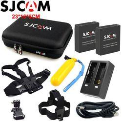 2PCS SJCAM Battery+1PCS Dual Charger for SJ6 Legend+1PCS Large Storage Bag for SJ7 Star Rechargeable Li-ion Battery Pack