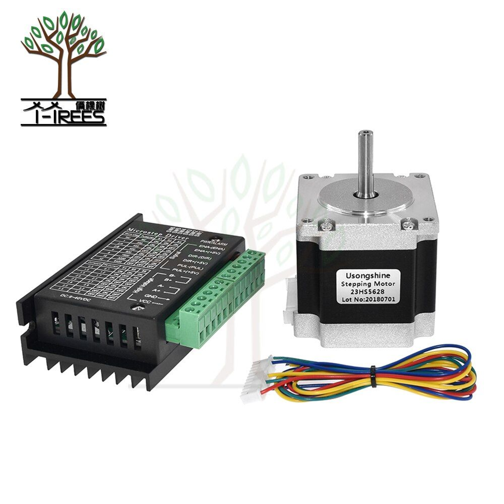 Nema 23 23HS5628 Stepper Motor 57 motor 2.8A with TB6600 stepper motor driver NEMA17 23 for CNC and 3D printer part parts