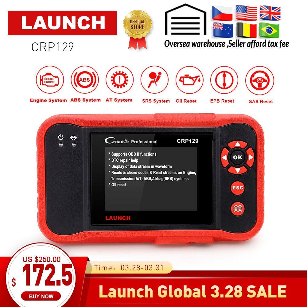 STARTEN CRP129 volle OBDII code reader diagnose scanner Motor/Übertragung/Airbag/ABS scan Tool Bremse/Öl /SAS reset für autos