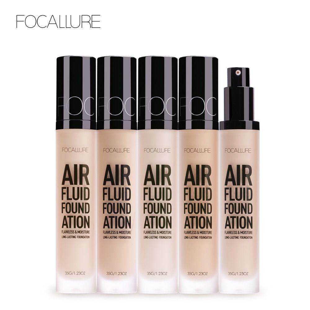 FOCALLURE 2018 nouveau fond de teint fluide à l'air hydratant fond de teint naturel longue durée imperméable femmes maquillage
