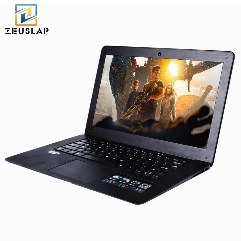 ZEUSLAP 14inch 8GB RAM+120GB SSD+750GB HDD Windows 7/10 System 1920X1080P FHD Intel Quad Core Laptop Ultrabook Notebook Computer