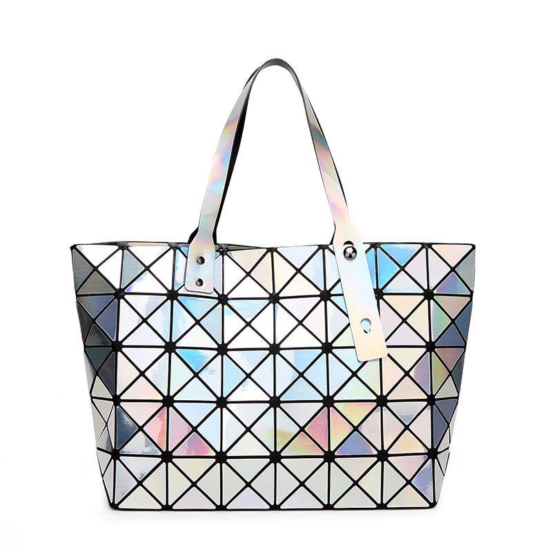 New Brand Messenger Bag Candy Colors Diamond Women Fashion Mirror Shoulder Bag Geometry Sequins Mirror Plain Folding Bags Women