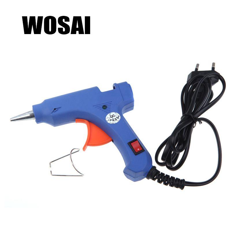 Wosai ЕС 20 wprofessional высокая температура нагреватель горячей Пистолеты для склеивания оправдают ремонт Термовоздуходувы пневматические DIY Инст...
