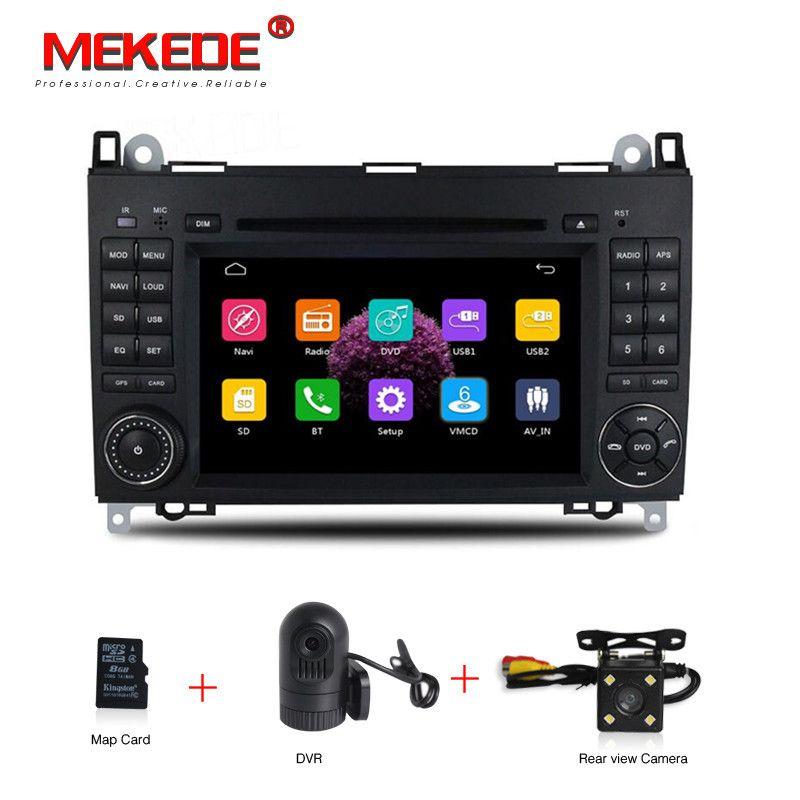 HD 2din Auto DVD GPS Head unit für Mercedes Benz B200 EINE B Klasse W169 W245 Viano Vito W639 Sprinter w906 3g Bluetooth Radio + KARTE