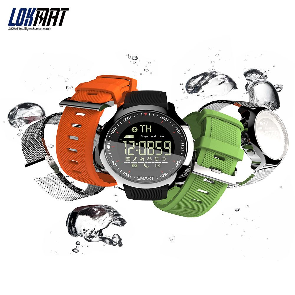 LOKMAT Men Sport SmartWatch Bluetooth Waterproof IP68 Support Call And SMS reminder Smart Watch for android and iphone