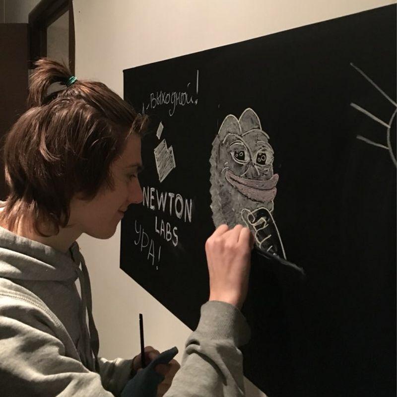 60*200 CM Stickers muraux tableau noir enfants dessin jouet vinyle tableau noir peinture craie peinture mur