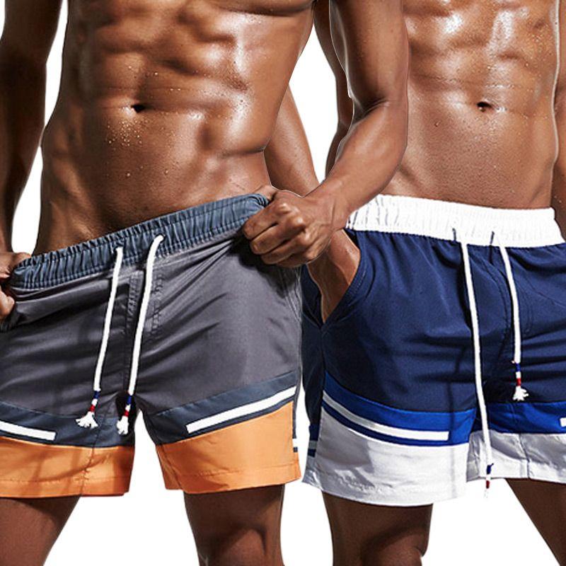 Männer Sommer Strand Shorts Schnell Trocknend Kordelzug Taille Boardshorts Kurze Hosen B2Cshop