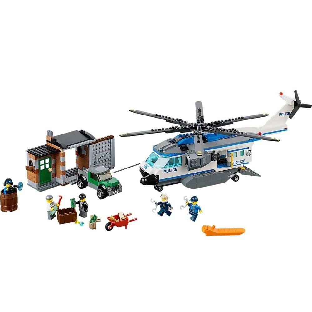 Helicopter Surveillance Compatible Legoe City Police 60046 Model Building Blocks Bricks toys for childrens kid gift
