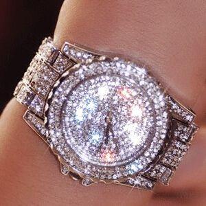 Montres femmes de luxe mode femme strass montre autriche cristal céramique montres femme Quartz montres dame robe montre
