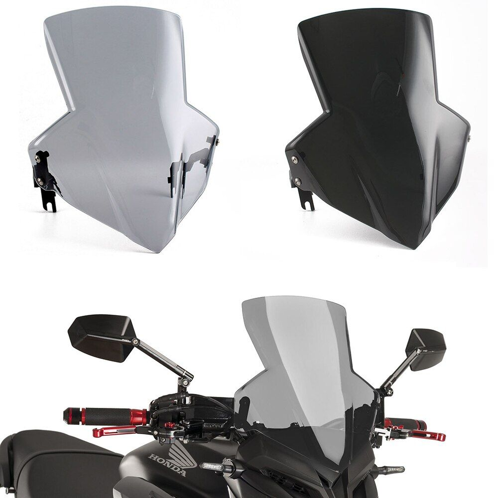 Motorcycle Racing Flyscreen Windshield Windscreen Wind Shield Protector for 2014-2017 Honda CB650F 2016 2015 2015 2016