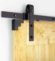For Russia 5FT-10FT Rustic Black Classic Rail Sliding Barn Door Hardware Barn Wood Door Sliding Track Kit Wheel Track System