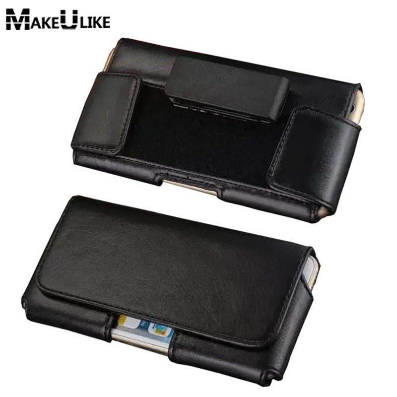 MAKEULIKE Rotatif Clip Ceinture Housse Pour Xiaomi MI4/mi5/MI6/Redmi 3 4 Note 2 3/mi 4 5 6 5 5S Plus Universel Téléphone Sac Couverture