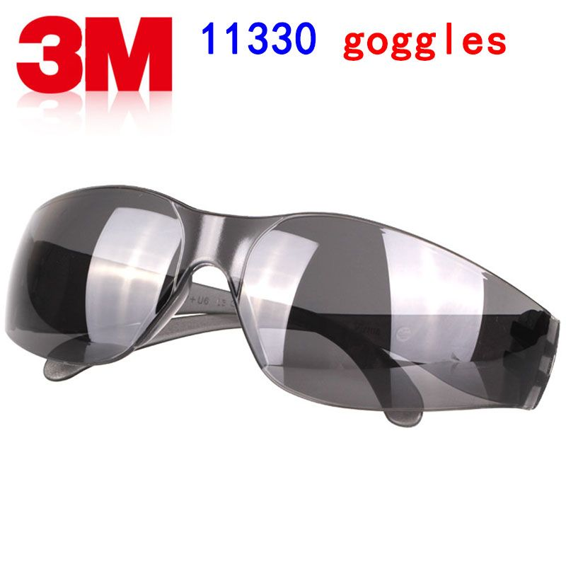 3M 11330 safety glasses Genuine security 3M protective glasses Light type dark Grey Labor protection Ride movement goggles