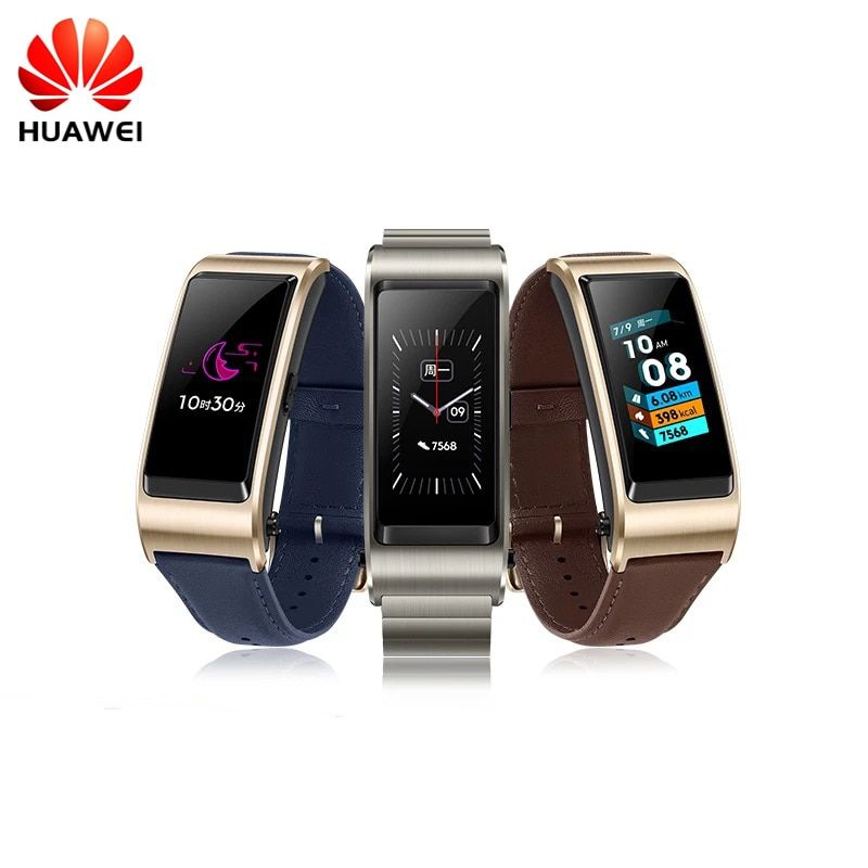 Original Huawei TalkBand B5 Wristband for Monitor Fitness Waterproof Bluetooth 1.13 inch Touch AMOLED Screen Bluetooth Earphone