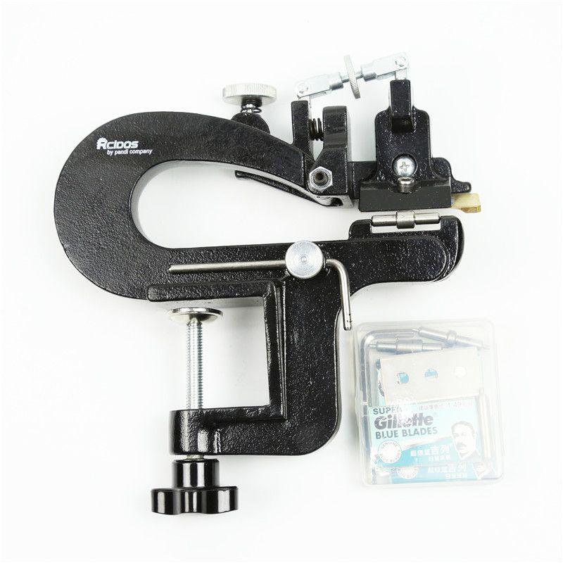 Séparateur de cuir ER809BP, kit de paring en cuir RCIDOS, largeur max 35mm, skiver en cuir, éplucheur de cuir tanné végétal