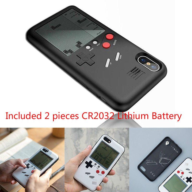 Tetris Gameboy Phone Cases for iPhone X 6s 6 6plus 7 7plus 8 8plus Retro Nintendo Tetris Gameboy Phone Case