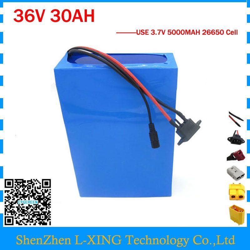 1500 watt 36 v 30AH Ebike Batterie 36 v Lithium-ionen Batterie für elektro-bike Conversion Kit Mit 50A BMS 42 v 3A Ladegerät 26650 Zelle