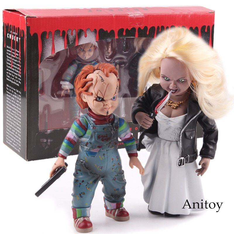 Child's Play Bride of Chucky Doll Chucky & Tiffany PVC Horror Action Figures Collectible Model Toy