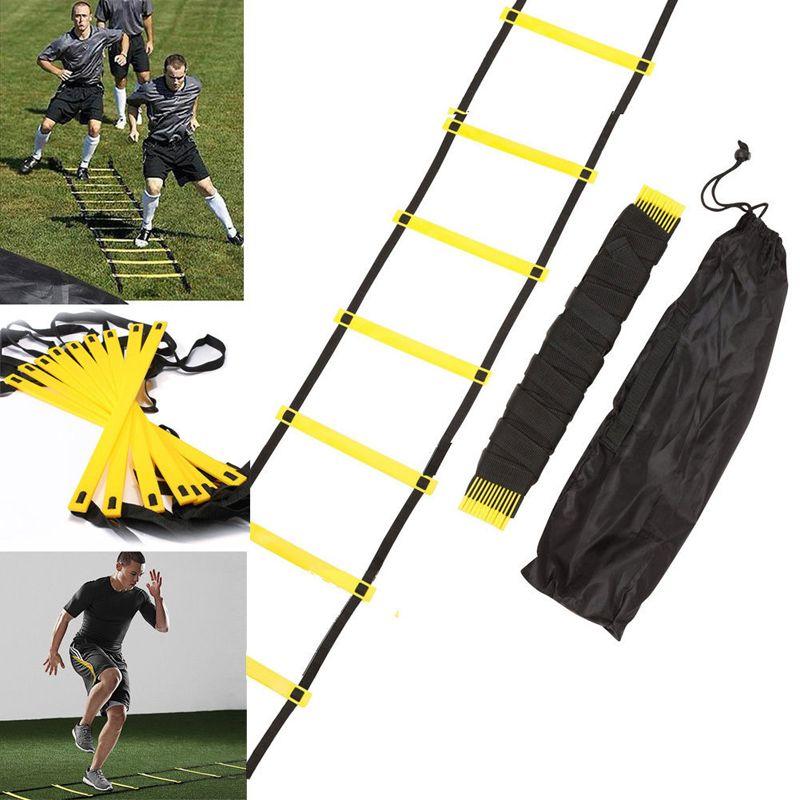 Nouveau Fitness En Plein Air 10 Sonné 15 Pieds 5 M Agilité Échelle pour Vitesse Football Football Fitness Pieds Formation Avec sac