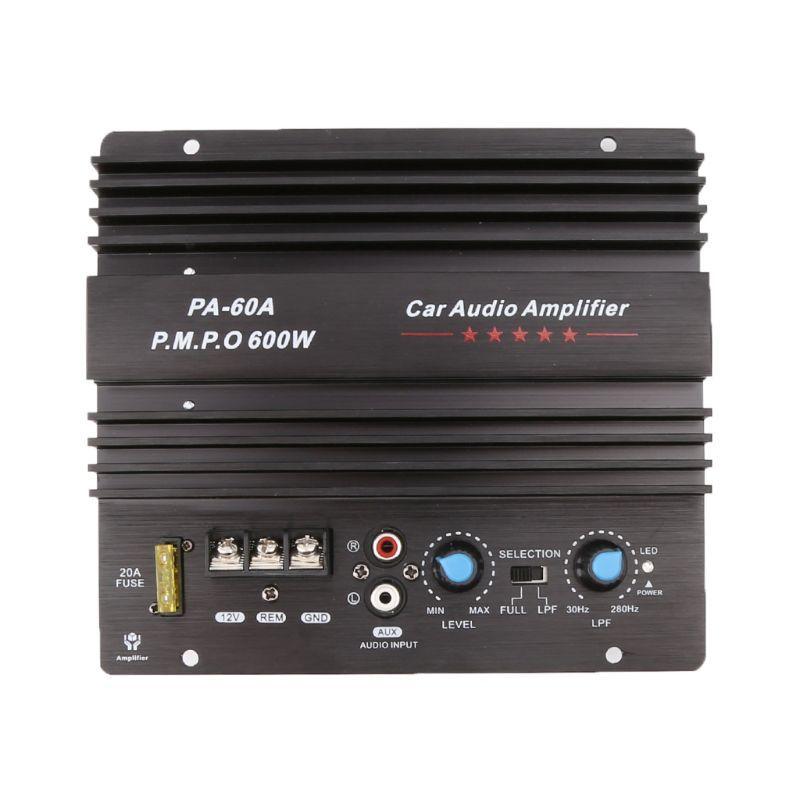 12V 600W Car Audio Power Amplifier Powerful Bass Subwoofers Amp PA-60A Black Car Amplifier Board