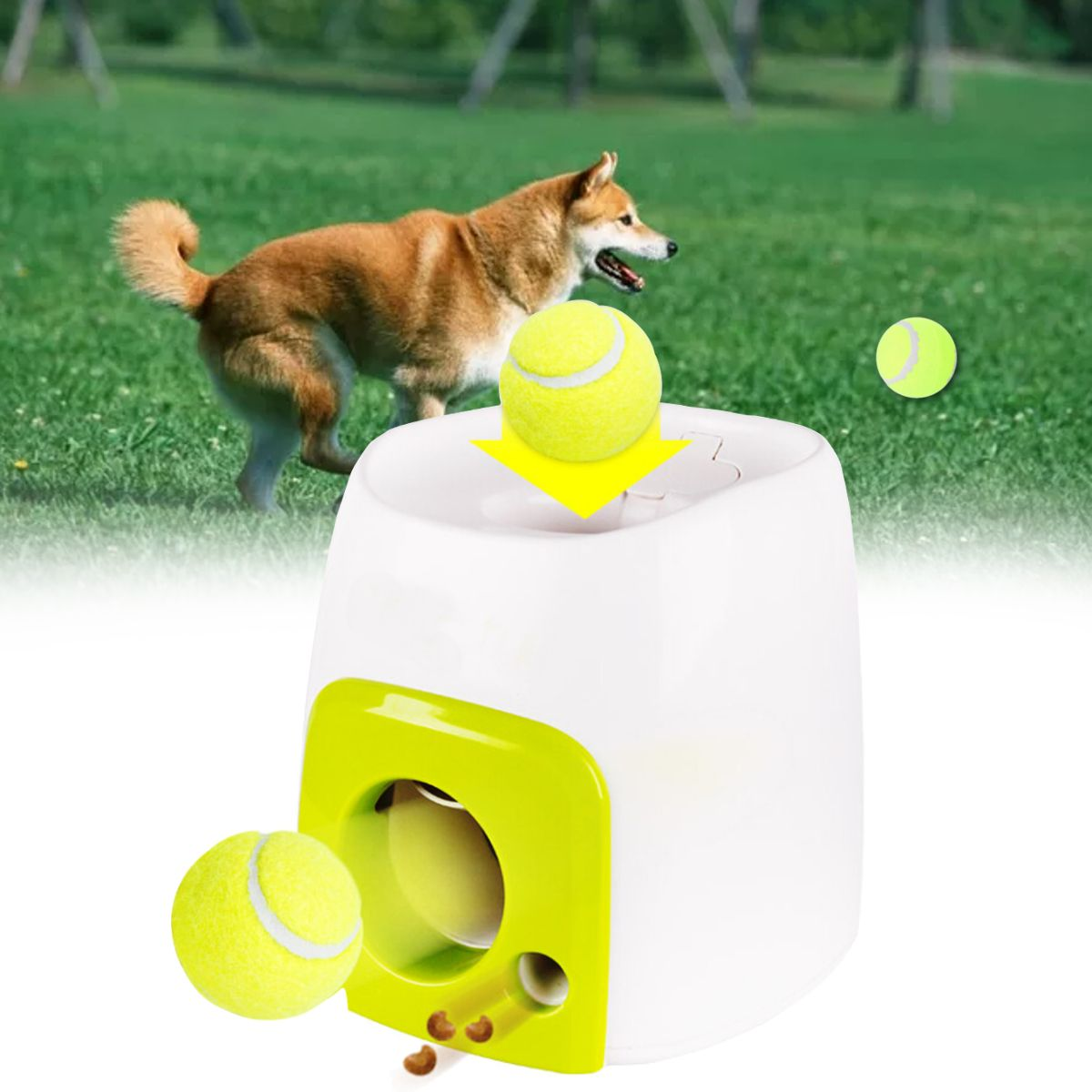Automatic Interactive Ball Tennis Launcher Dog Pet Toys Automatic Throwing Mmachine Pet Ball Throw Device Emission With Ball