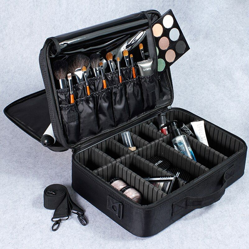 Female High Quality Professional Makeup Organizer Bolso Mujer Good Cosmetic Bag Large Capacity Storage case Multilayer Suitcases