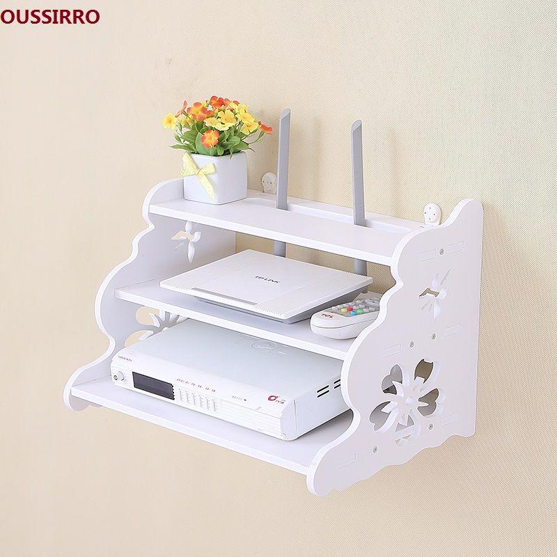 OUSSIRRO Creative accueil TV ensemble du cabinet top caisson Routeur plateau support de stockage étagère de rangement partition Pylônes tenture