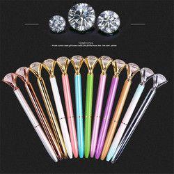 TOMTOSH Nouveau diamant à bille stylo à bille Kawaii stylo haut de gamme cristal stylo cadeau d'étudiant stylo personnalisé métal à bille penOffice