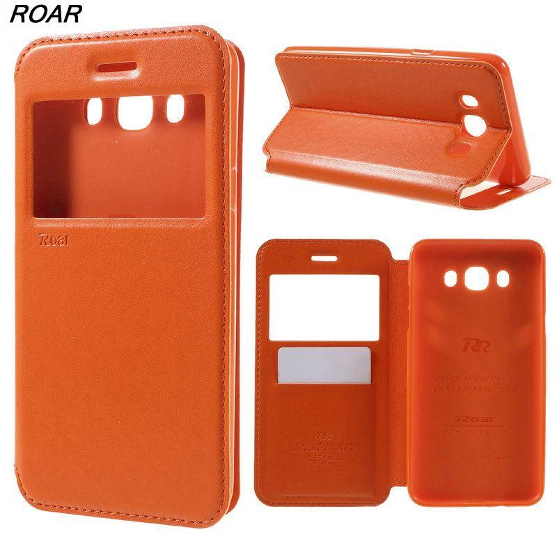 For Samsung Galaxy J7 2016 Case Original ROAR KOREA View Window Card Holder Leather Cover Case for Samsung Galaxy J7 2016 J710