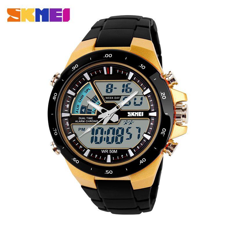 Men LED Digital Quartz Watch Electronic SKMEI Fashion <font><b>Outdoor</b></font> Sports Watches Watwrproof Wristwatches Man Clock Relogio Masculino