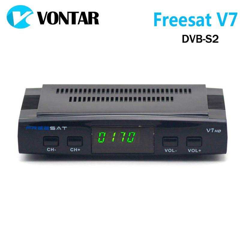 [Подлинный] freesat V7 DVB-S2 HD с USB Wi-Fi Спутниковые антенны Поддержка powervu Biss ключ cccamd Youtube Youporn Декодер каналов кабельного телевидения