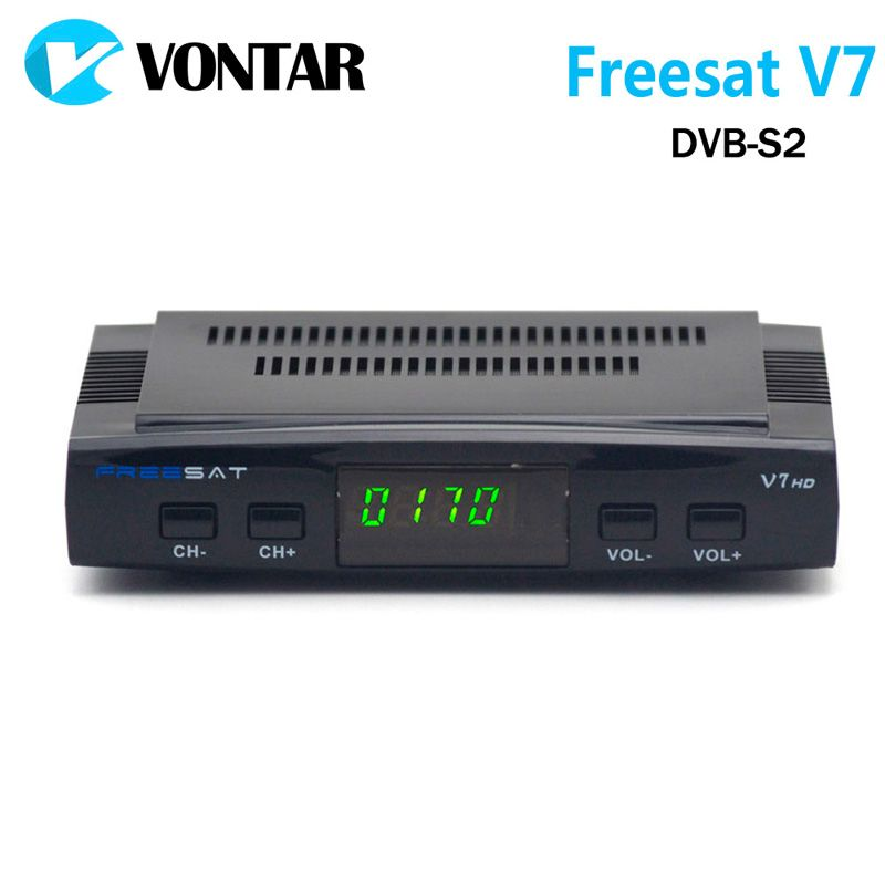 [Genuine] freesat v7 DVB-S2 HD con USB WiFi Receptores de televisión por satélite soporte powervu Biss llave cccamd YouTube YouPorn set top caja