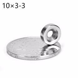 10*3 100 piezas anillo 10mm x 3mm agujero: 3mm fuerte imán de neodimio n52 imanes neodimio imanes envío libre